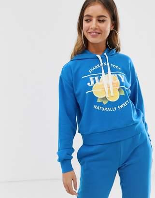 Juicy Couture Juicy By Juicy lemon logo hoodie-Blue