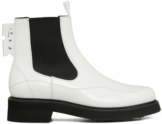 Off-White Leather Chelsea Boots