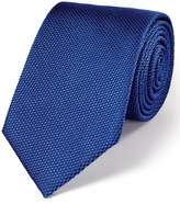 Dark Blue Silk Plain Classic Tie by Charles Tyrwhitt