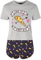 Topshop Love At First Bite Pizza Pyjama Set