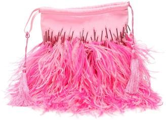 ATTICO Greta Feather Pouch Tote Bag