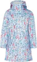 Joules Girls Dog Print Raincoat