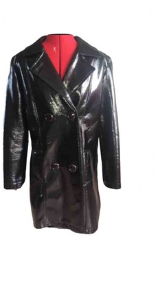 Sonia By Sonia Rykiel Black Patent leather Trench coats