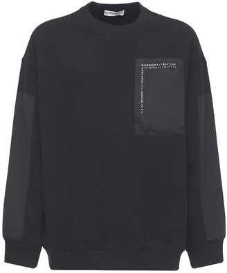 Givenchy Army Sweatshirt W/ Nylon Zip Pocket