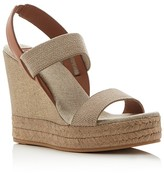 Tory Burch Two Band Slingback Espadrille Wedge Sandals
