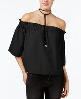 Rachel Roy Shirred Off-The-Shoulder Top, Created for Macy's