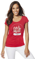 New York & Co. Lounge - Snowglobe Skyline Graphic Logo Tee
