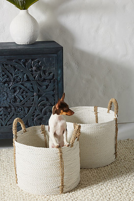 Anthropologie Uma Baskets, Set of 2 By in White Size ALL