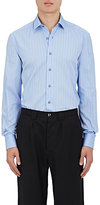 Lanvin Men's Pinstriped Cotton Poplin Fitted Shirt