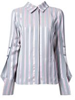 Monse buttoned sleeve striped shirt