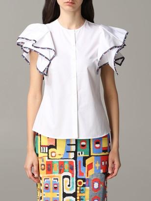 Stella Jean Shirt Poplin Shirt With Maxi Sleeves