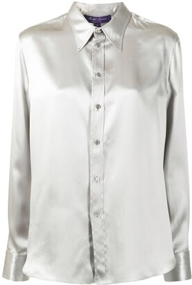 Ralph Lauren Collection Long Sleeved Satin Shirt