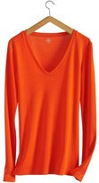 Petit Bateau Womens long-sleeved, v-neck tee in new cotton
