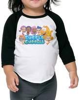 HiFive Bubble Guppies Logo Raglan T Shirt Toddler Cotton Long Sleeve 3/4 Unisex Sweet