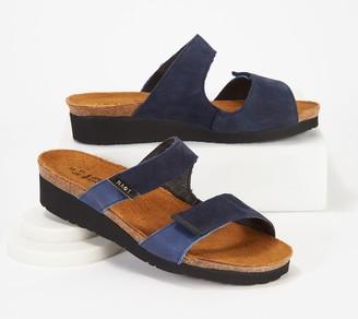 Naot Footwear Leather Slide Wedge Sandals