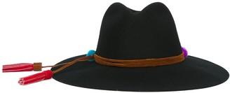Sensi Pompom Detail Wide Brimmed Hat