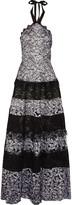 Alexis Imelda halterneck lace gown