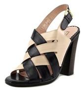 Opening Ceremony Spazzolato Women Open Toe Leather Black Sandals.
