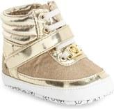 MICHAEL Michael Kors 'Mae' High Top Crib Shoe (Baby)