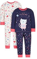 Mothercare Baby Girls' Space Cat- 2 pack clothing set Bodysuit,12-18 Months