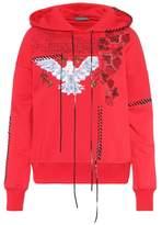 Alexander McQueen Embroidered cotton hoodie