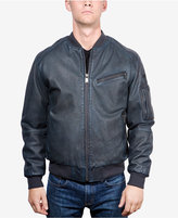 Boston Harbour Vintage Men's Faded Leather Bomber Jacket