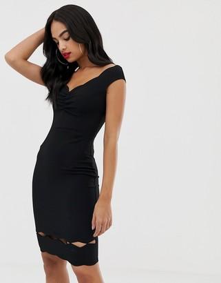 Lipsy bardot dress-Black