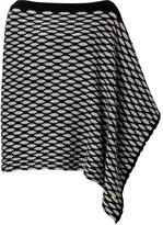Dear Cashmere Wool Poncho in Black/Grey