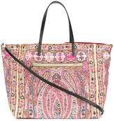 Etro mixed paisley print tote bag
