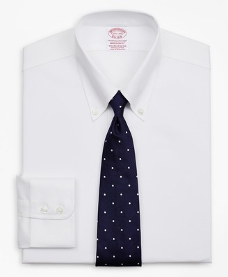 Brooks Brothers Stretch Madison Classic-Fit Dress Shirt, Non-Iron Twill Button-Down Collar