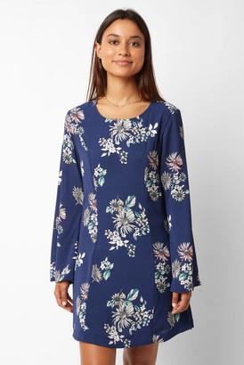 Sam&lavi Sam & Lavi Floral Printed Mini Dress Blue Multi XS
