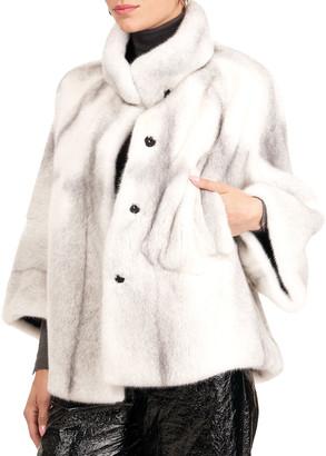 Gorski Mink Fur 3/4 Sleeve Collarless Jacket