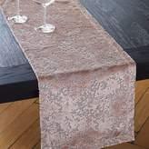 west elm Allover Textured Jacquard Velvet Table Runner