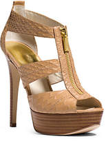 Michael Kors Berkley Embossed-Leather Platform Sandal