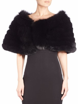 The Fur Salon Shirred Fox Fur Cape