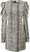 Saint Laurent leopard print dress - women - Silk - 36