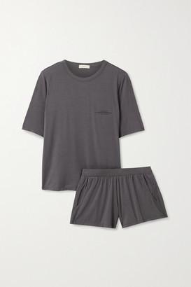 Eberjey Finley Stretch-bamboo Pajama Set - Gray