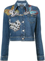 Roberto Cavalli butterfly denim jacket