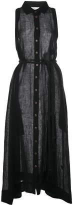 Lisa Marie Fernandez Alison Sleeveless Button Down Dress