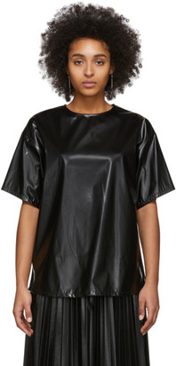 MM6 MAISON MARGIELA Black Coated Zipped Blouse