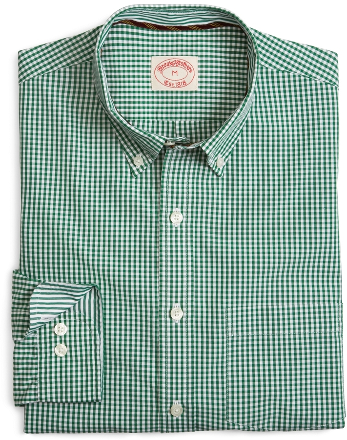 Brooks Brothers Gingham Check Sport Shirt