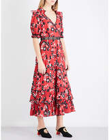 Self-Portrait Floral-print chiffon shirt dress