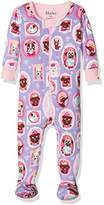 Hatley Baby Girls' 100% Organic Cotton Footed Sleepsuit,3-6 Months