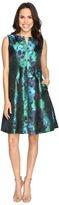 Christin Michaels Aurora Brocade Panel Dress