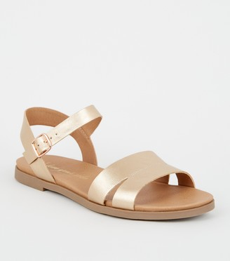 New Look Wide Fit 2 Part Footbed Sandals