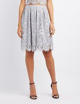 Charlotte Russe Floral Lace Midi Skirt