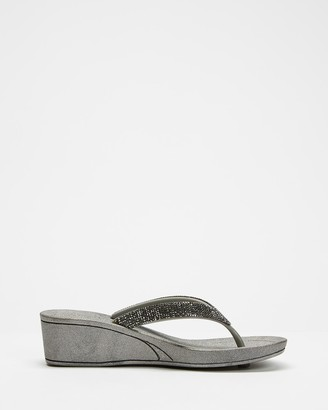 Holster Women's Grey Sandals - Twilight Wedge - Size One Size, 11 at The Iconic