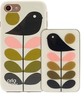 Orla Kiely Iconic Fashion Hardshell Duo Phone Case pack & Portable Battery Charger Power Bank Bundle for iPhone 7 - Early Bird Design