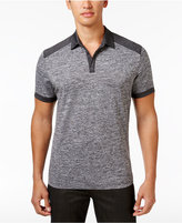 Alfani Men's Colorblocked Heathered Polo, Created for Macy's