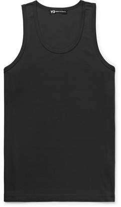 Y-3 Y 3 Slim-Fit Logo-Print Cotton-Jersey Tank Top